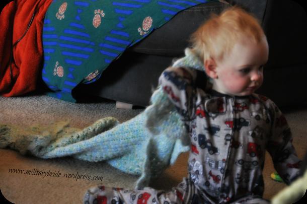Mr. Blue Eyes and his favorite blanket