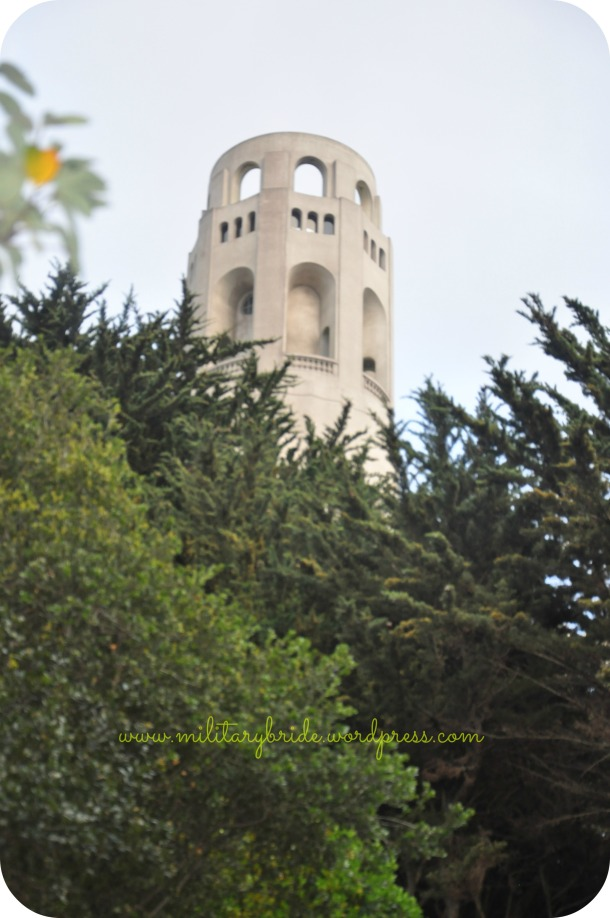 Climbing up to Coit Tower is no easy task when you're almost 6 1/2 months pregnant