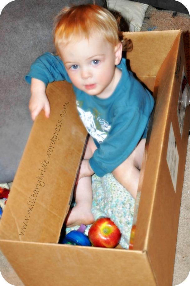 Blue Eyes loves boxes