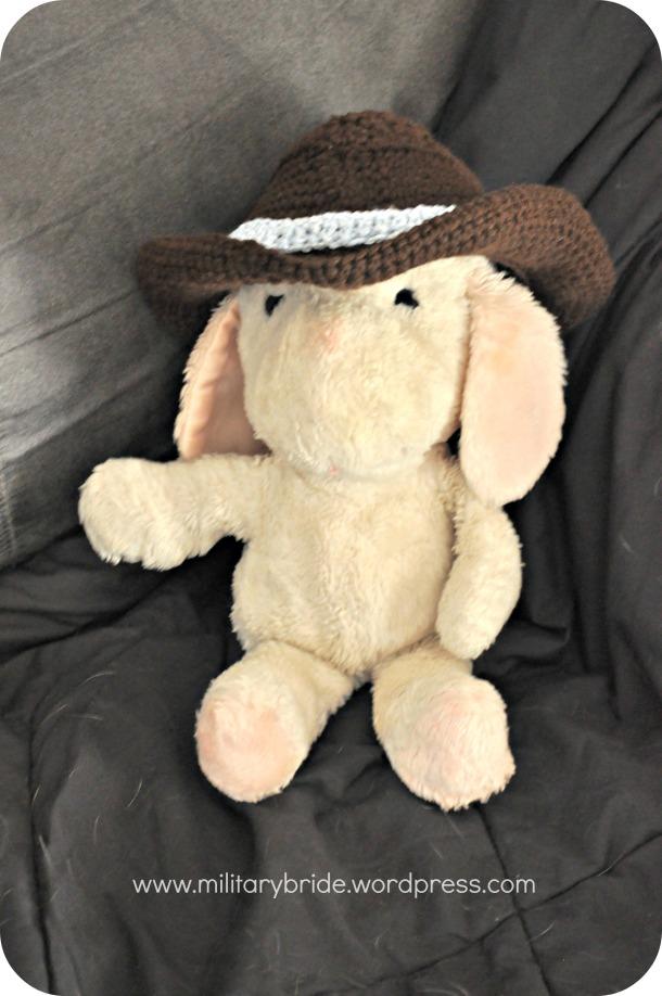 baby's cowboy hat