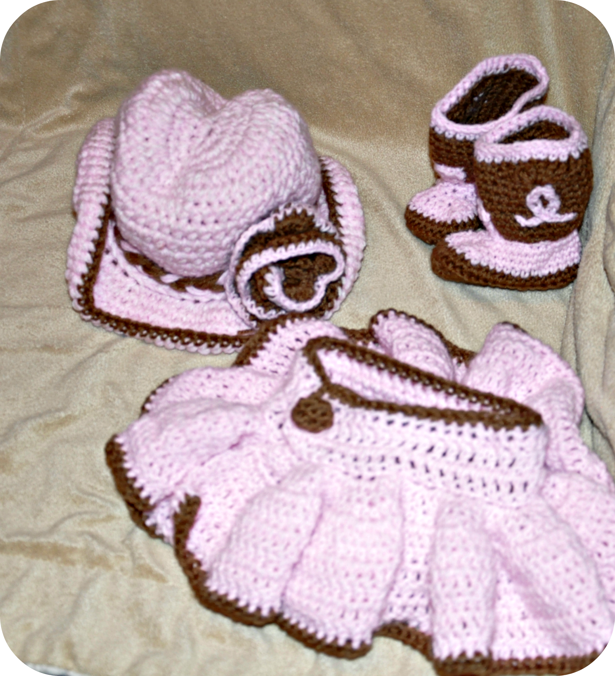 Crochet Baby Outfit Pattern : Cowboy hat crochet Military Bride