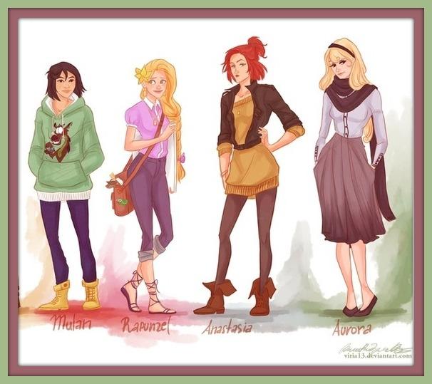 Mulan, Rapunzel, Anastasia, Aurora