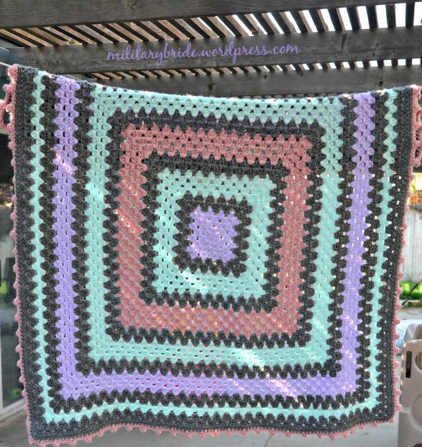 Modern Granny Square blanket
