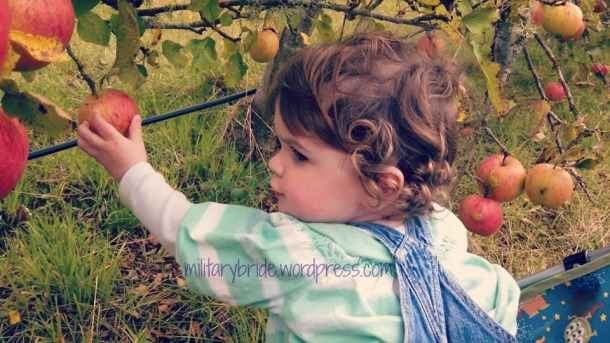 Snow White at the apple orchard